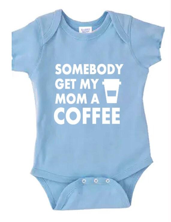 baby bodysuit My mom needs caffeine Baby clothes baby boy clothes baby creeper baby shower gift baby girl clothes