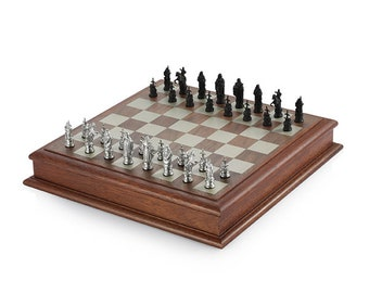 Royal Selangor Hand Finished Generic Collection Pewter Camelot Mini Chess Set