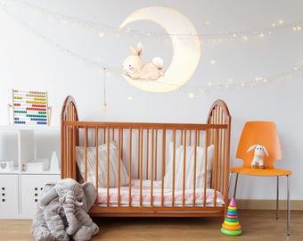 Bunny Moon interior décor children wall sticker kids decal by Aida Zamora