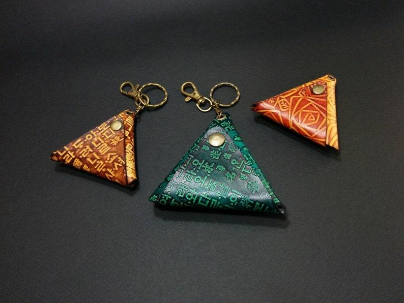 Triangle Coin Purse,leather coin purse,leather coin pouch,mens coin purse,mens coin wallet,coin purse,purse