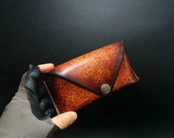 Eye glass case, Sunglass case, Leather glass case, leather eyeglass case,leather sunglass case,handmade