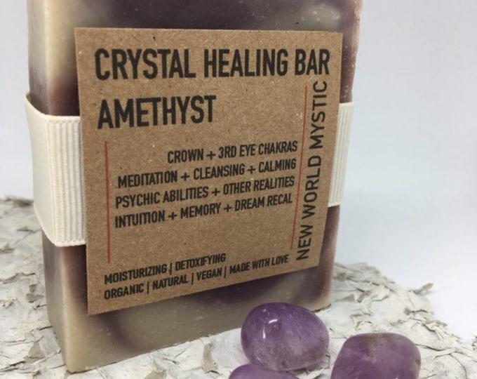 Crystal Healing Bar | Amethyst with Bentonite Clay | Alkanet Root | Lavender Essential Oil