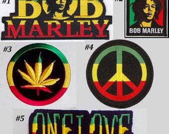 ONE PEOPLE ONE WORLD ONE LOVE Jamacia Rasta Reggae Iron On Patch