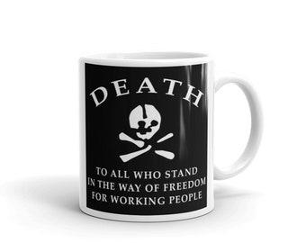 MAKHNOVSCHINA FLAG White glossy mug