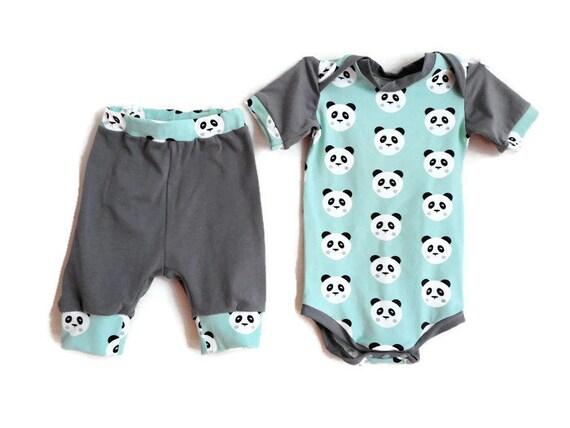712b0e6e736 Unisex Baby Clothing Set Baby Girls Boys Bodysuit Baby Harem | Etsy
