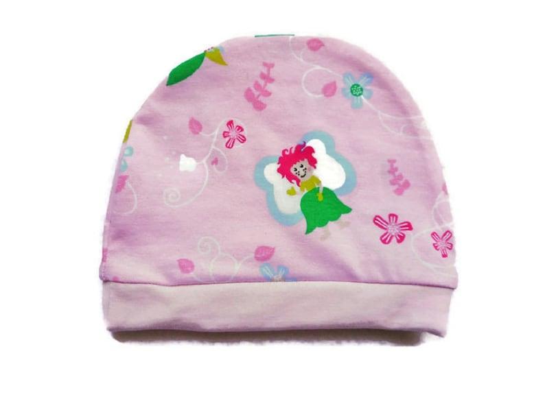 80ed0f26dc7c5 Bonnet Bébé Fées Rose Clair 3-6 mois Bonnet Fille Jerseys