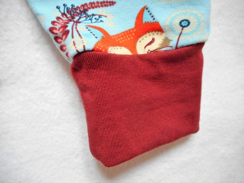 Baby Neutral Gender Pants Baby Harem Pants Toddler Pants 12 months size Fox Pants Fox Animal Baby Cloths Sweat Jersey Cotton made in France