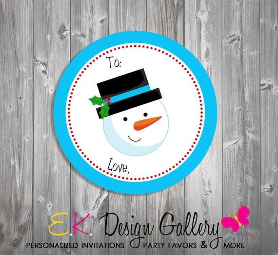 Vanilla Lip Balm Christmas Snowman Stocking Stuffer Party Favor Gift