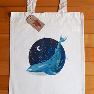 Whales Narwhal Whale Canvas Bag Backcountry Ink Direct to Garment Eco Friendly Narwhal Canvas Bag Sea Rock Candy Whale Canvas Bags