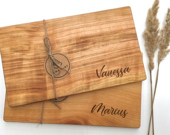 Breakfast Board Cherry with Engraving, Wood, Stud Board, Wooden Board, Mother's Day, Valentine's Day