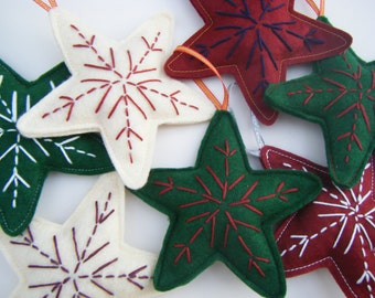 Christmas Star Decoration, Felt Christmas Decoration, Christmas Ornaments