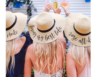 Custom Floppy Beach Hat    Bachelorette Trip    Honeymoon    Beach Weekend 29d38478112