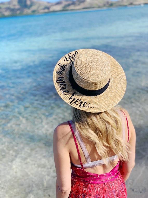 Custom Boater Hat    Bachelorette Trip    Honeymoon    Beach  bc3360c87d3