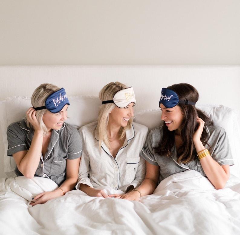 Wake Me For Mimosas Sleep Mask  Bachelorette  Wedding  Honeymoon  Vacation