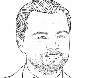 CUSTOM PORTRAIT for Facebook and Twitter profiles. Hand-drawn sketch. High Resolution file: 1920 x 1920 pixels. The best gift.
