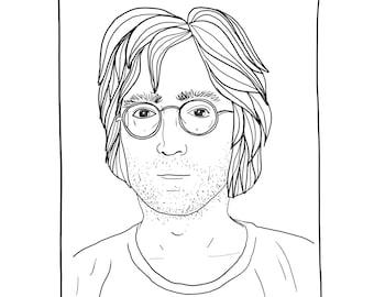 PORTRAIT PACK ( John Lennon.Mick Jagger.Grace Jones.Debbie Harry ).High Resolution file(1900 x 1900 pixels). You can use them as you like !!