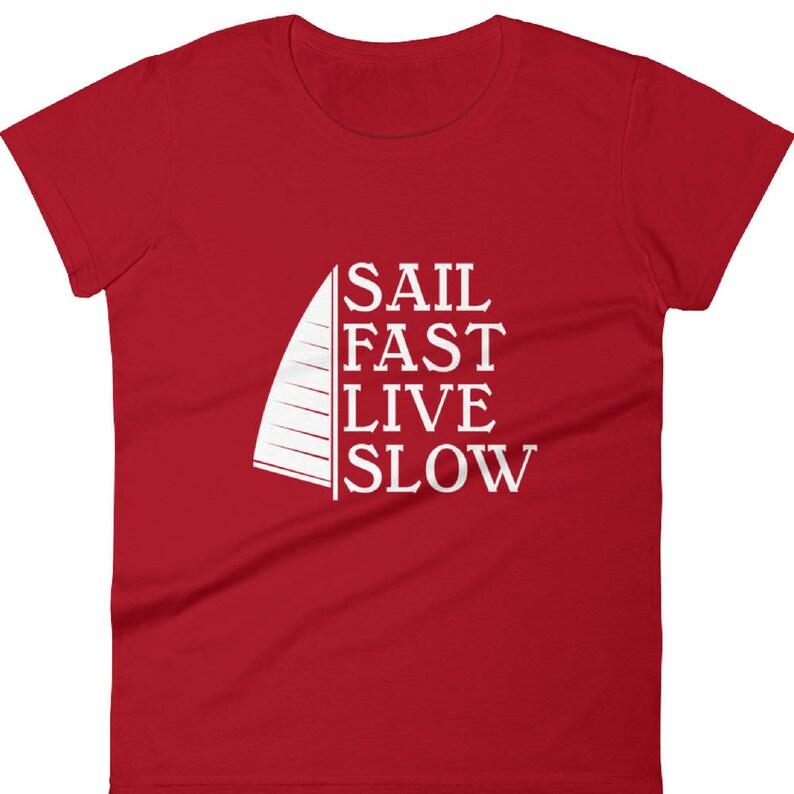 506fee9eb6cc4f Di nautica vela t-shirt donna-nautica maglietta maglietta a | Etsy