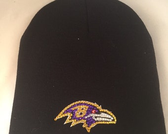 fb67bd6259c Baltimore Ravens blinged beanie