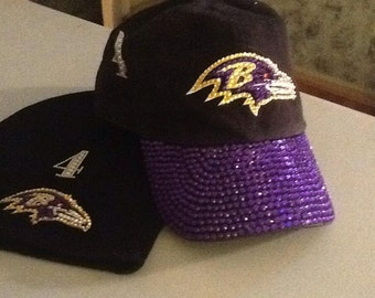 12d644247d4 Custom Ravens Bling Hat!