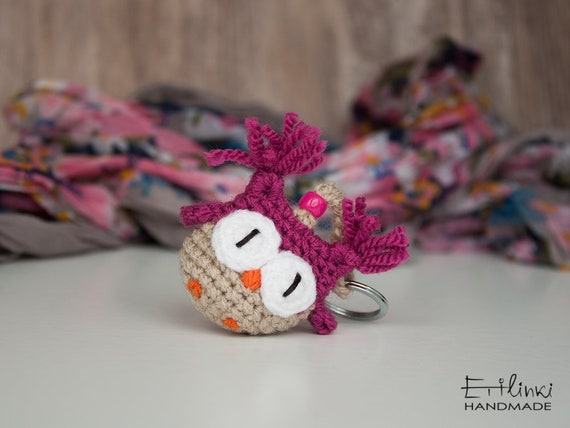 Tiny Amigurumi Owl Keychains, Gifts For Girls, Kids Key Chains, Womens Keyrings, Gifts For Her Under 20, Stuffed Owl, Crochet Bag Charms