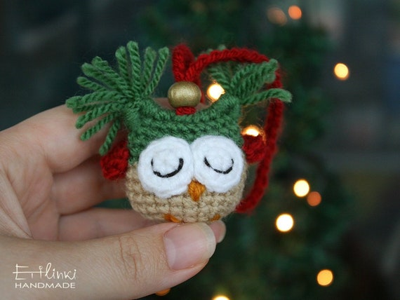 Christmas Gift For Kids Owl Ornament Toys Christmas Tree Decorations Red Green Gold Christmas Decor Xmas Presents Christmas Stocking Fillers