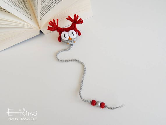 Owl Bookmark Handcrafted Gift For Christmas Teachers Gifts For Book Lovers Presents Bookworm Bookish Gifts Book Accessory Owl Page Marker