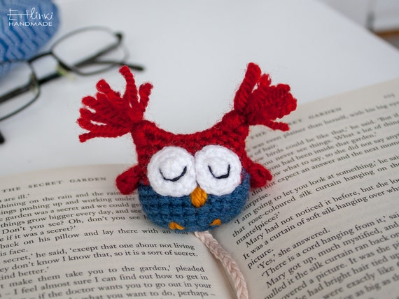Book Lover Gifts. Owl Bookmark For Books. Cute School Supplies.
