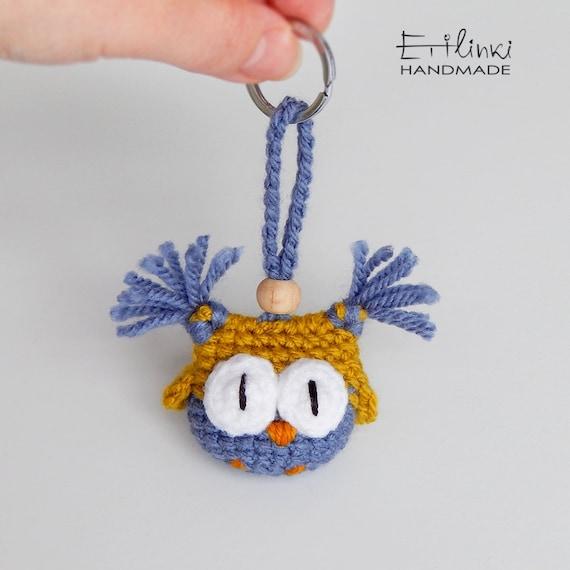 Handmade Keychain For Kids, Interesting Stuffed Owl Ornament, Tiny Plush Toy