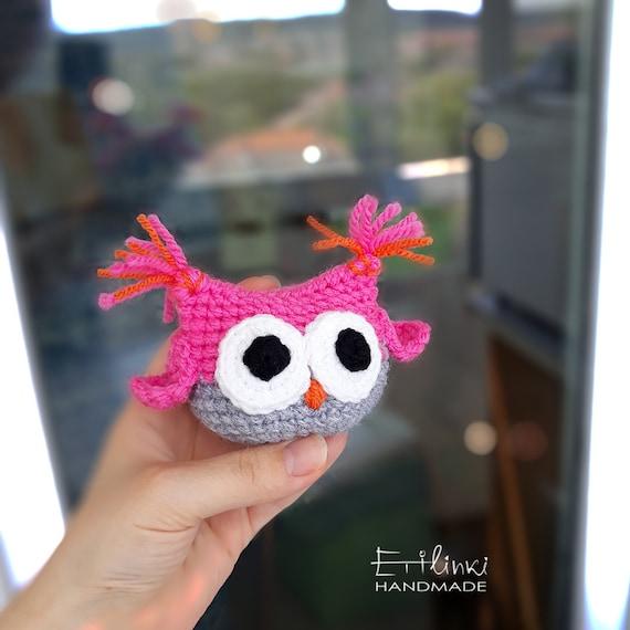 Amigurumi Owl Als Cadeau Voor Meisje Leeftijd 6 7 8 9 10 11 12 Knuffels Meisjes Kamer Decoratie In Roze Heden Voor Verjaardag Haak Gebreide Uil