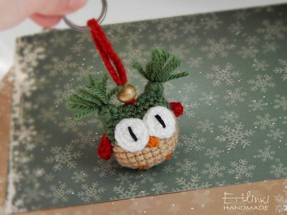 Christmas Keychain Owl Xmas Gift Ideas For Coworkers Christmas Party Favors Presents For Friends Small Gifts Stuffed Owl Key Chain Keyring
