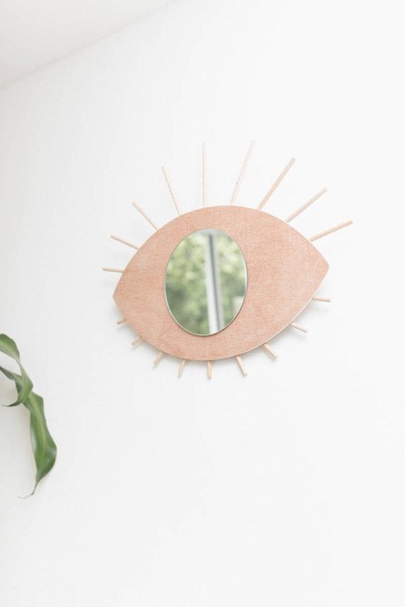 Spiegel Auge Aus Holz Handgefertigt Etsy