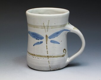 Ara Cardew Wenford Bridge Stonware Mug, Hand Thrown, Hand painted. Son of Seth Cardew, Grandson of Michael Cardew. Leach Pottery link.