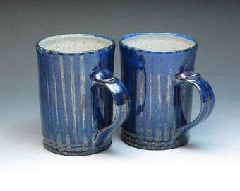 Robert Goldsmith Selborne Pottery Pair of Mugs(B), Studio Pottery Mugs, Hand Thrown Stoneware Pottery Mugs
