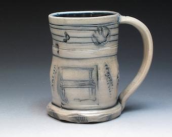 Husby Porcelain Mug, Bob and Cheryl Husby Salt Fired Pottery, Deluth Minnesota