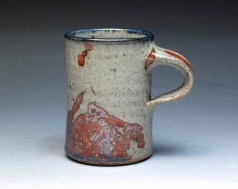 John Glick Plum Tree Pottery Small Stoneware Mug, Hand Thrown Pottery Mug, Collectible Mug