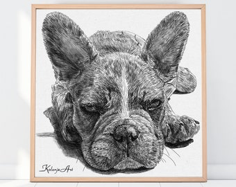 Personalized gift, Gifts for mom, Pet Portrait Custom Wall art, Gift for Her, Gifts for parents,  Dog lover gift, Dog loss gift,