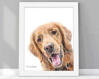 Peekaboo pet portrait, Pet Portrait Custom, Custom Pet Portrait | Custom dog portrait, Portrait from photo, Drawing from photo, Dog painting