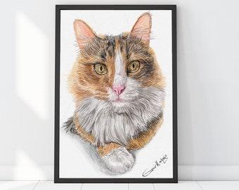 Custom Pet Portrait, Custom cat portrait, Gifts for mom, Digital pet portrait, Dog Portrait Custom, Dog memorial, Cat portrait custom