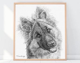 Custom Dog Drawing, Custom Cat Drawing, Custom Pencil Drawing, Custom Pet Drawing, Dog Drawing Custom, Drawing From Photo, Pet sympathy gift