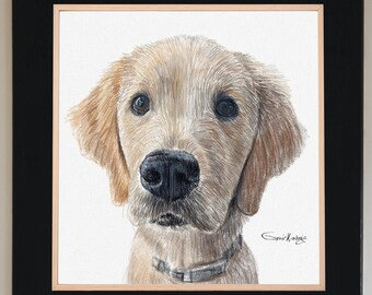 Dog Portrait Custom Portrait From Photo, Pet portrait custom, Custom Dog portrait, Digital cat portrait, Gifts for her