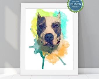 Personalized gift | Dog portrait custom | Custom Pet Portrait | Portrait painting | frames wall art | frames wall art