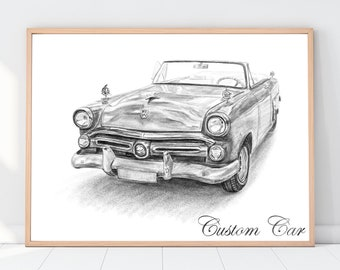 Car wall art, Boyfriend gift ,Gift for men, Father's Day Gift for him, Personalized Guy Gift, Car poster, Custom Car Portrait,  Gift for men