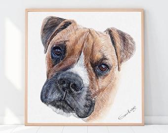Custom dog portrait | Custom cat portrait, Custom Pet Portrait, Portrait from photo, Drawing from photo, Personalized gift, Dog Sympathy