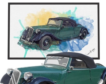 Custom Car Portrait, Father's Day Personalized gift for men, Best Gift for him, Boyfriend gift, husband gift, Fathers day gift, Car painting