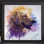 Custom Pet Portrait Watercolor | Dog Portrait Custom | Cat Portrait Custom | Digital Dog Portrait