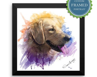 Custom pet portrait for Dog lover gift and Cat lover gift, Custom cat portrait, Custom dog portrait, Personalized gift, Dog memorial,