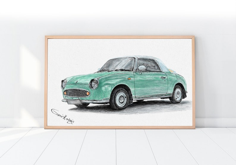Custom digital art Car drawing art Dad gift Car guys gift image 0