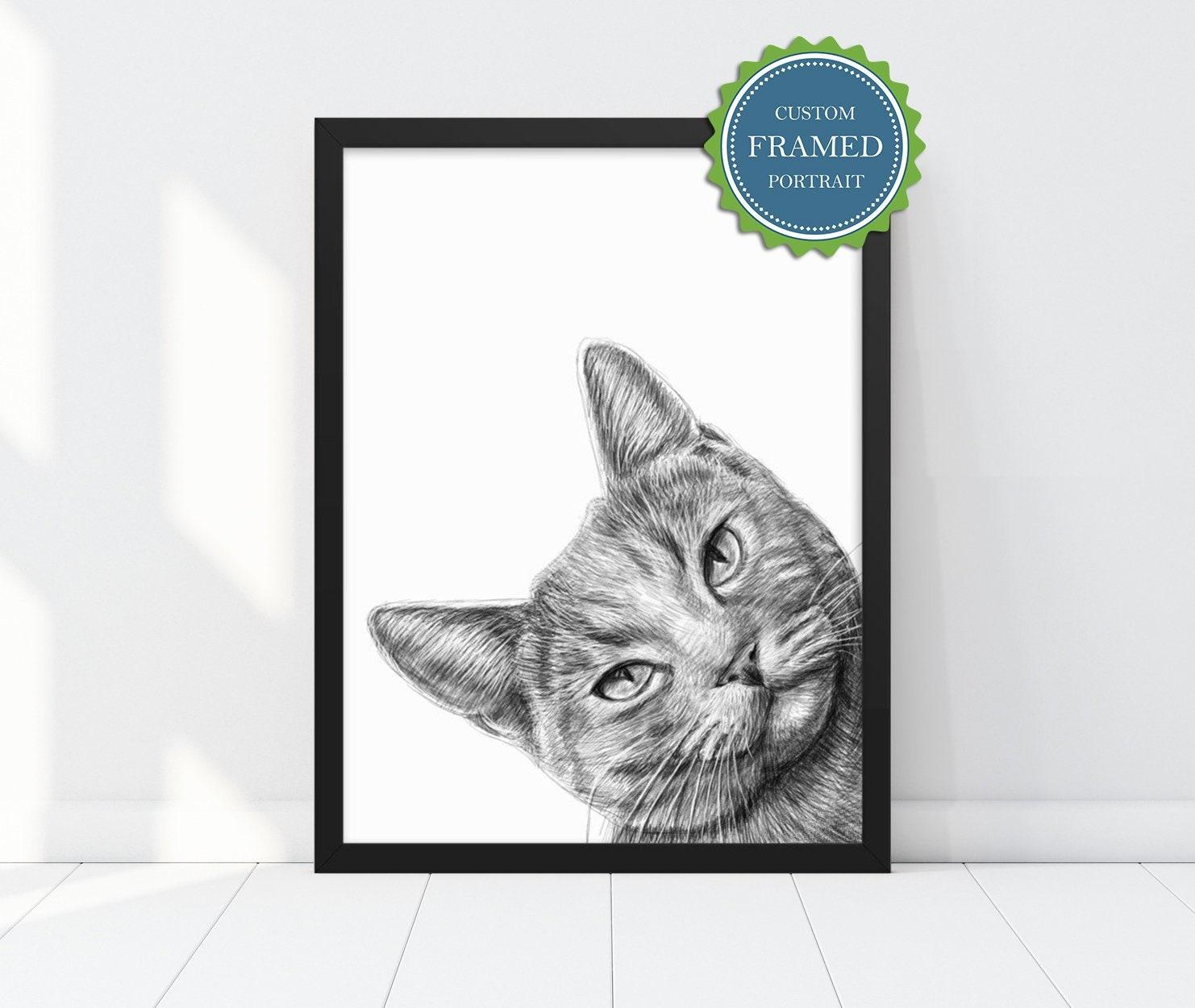 custom pet portrait pet loss custom cat portrait cat painting cat mom cat memorial cat art pet illustration personalized gift