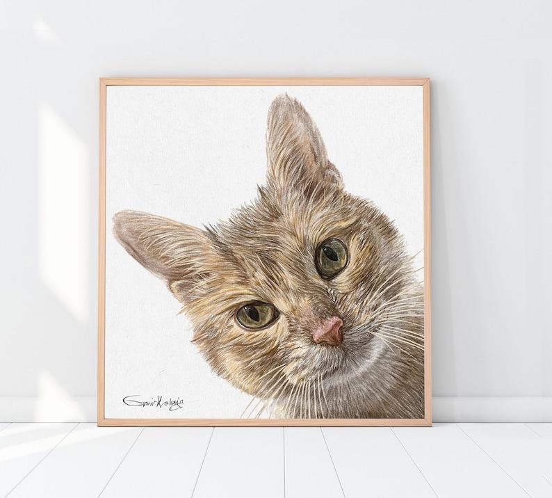 Custom cat portrait  Custom dog portrait  Custom Pet image 0