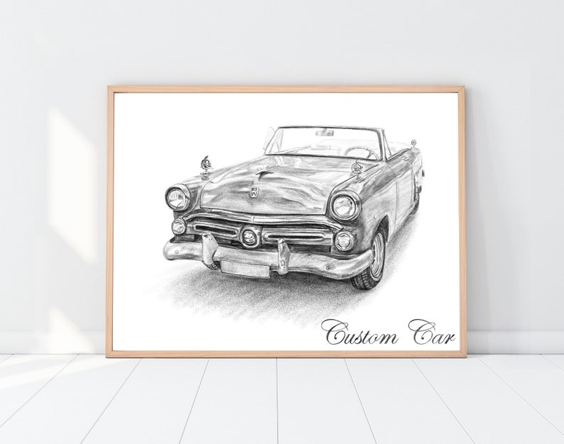 Car wall art Boyfriend gift Gift for men Father's Day image 0